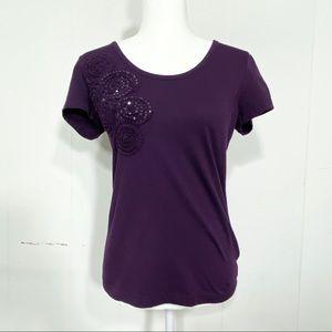 TOMMY HILFIGER purple short sleeve shirt
